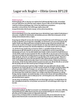 Lagar och Regler - Företagsekonomi | Inlämningsuppgift