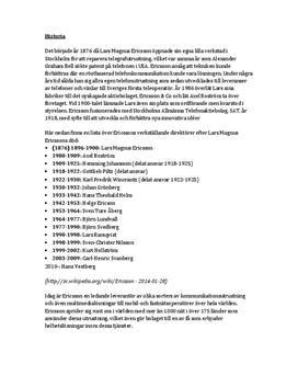 Ericsson |Fördjupningsuppgift