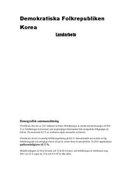 Nordkorea | Fördjupningsarbete