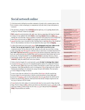 Social network sites | Argumenterande text