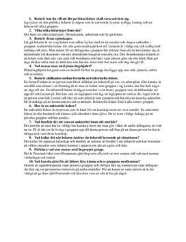 Ledartyper i pedagogiskt aktivitetsledarskap | Frågor och svar