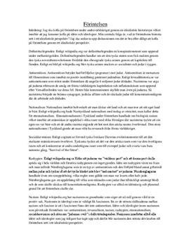 Förintelsen ur idealistiskt perspektiv | Utredande text