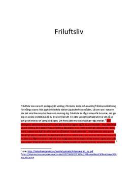 Friluftsliv och folkhälsa | Inlämningsuppgift