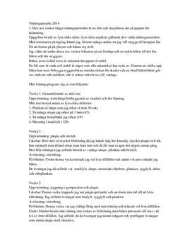 Bålstabilitet, Ergonomi, Friluftsliv och Kroppideal | Inlämningsuppgift
