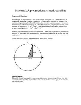 Trigonometriska ettan | Inlämningsuppgift