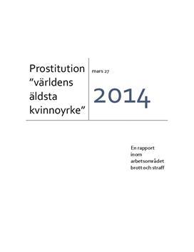 Prostitution förr och nu | Rapport