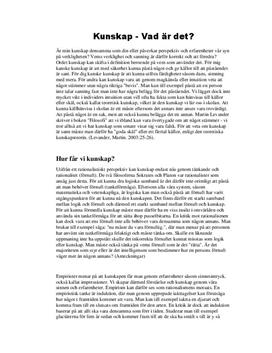 Vad är kunskap? | Utredande text