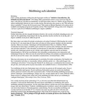 Mobbning och identitet | Utredande text