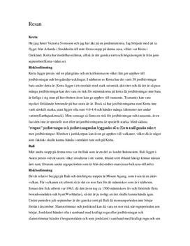 Endogena och Exogena processer | Utredande tal