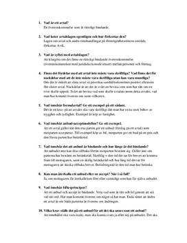 Avtalsrätt | Frågor och svar