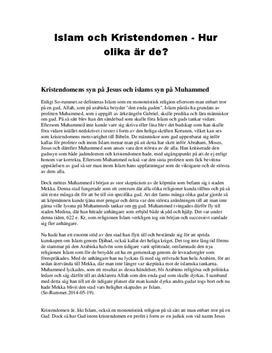 Islam och Kristendom | Jämförelse