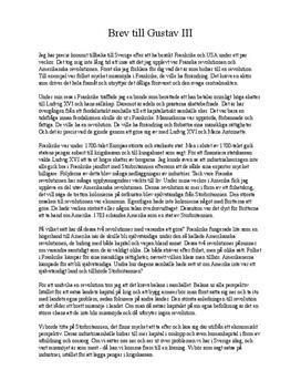 Undvik revolutioner i Sverige   Brev till Gustav III