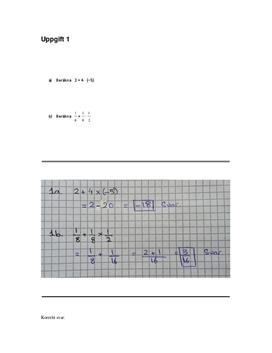 Matematik C | Inlämningsuppgift