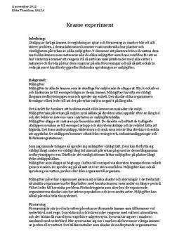 Krasse - påverkan av olika miljögifter | Labbrapport