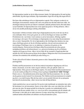 Keynesianism kontra monetarism | Utredande text