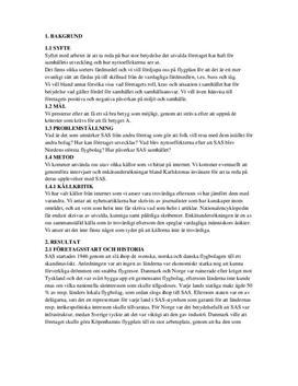 SAS | Projektrapport