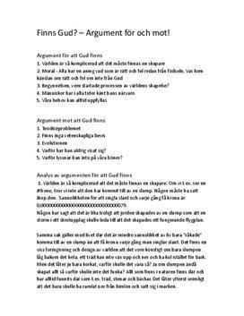 Finns Gud? | Diskuterande text