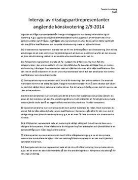 Riksdagspartiernas syn på könskvotering | Intervju
