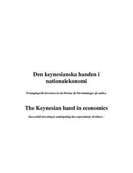Nationalekonomi: Keynesianismen | Rapport
