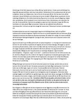 Integration och främlingsfientlighet | Diskuterande text