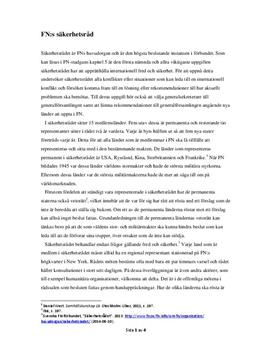 FN:s säkerhetsråd | Utredande text