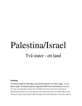 Palestina-Israel konflikten | Fördjupningsarbete