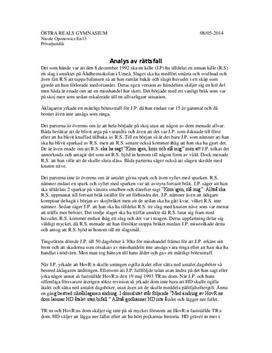 Genomgång av ett rättsfall | Analys