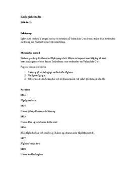 Etologi: Fältstudie av vitkindade gäss | Undersökning