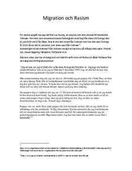 Migration och Rasism | Diskuterande text
