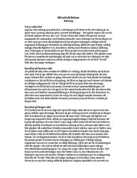 Ridning | Idrottslektion