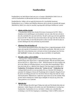 Demokrati eller diktatur - Saudiarabien och Iran | Jämförelse