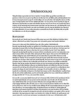 Språksociologi | Diskuterande text
