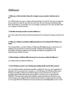 Fältbussar | Instuderingsfrågor
