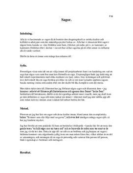 Sagor | Fördjupningsarbete