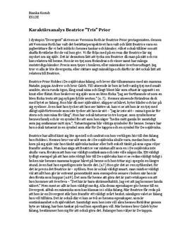 Divergent: Beatrice Prior | Karaktärsanalys