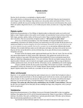 Digitala medier | Fördjupningsuppgift