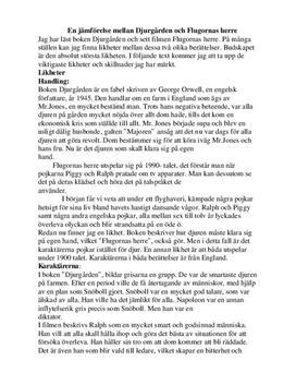 Flugornas herre & Djurfarmen | Jämförelse