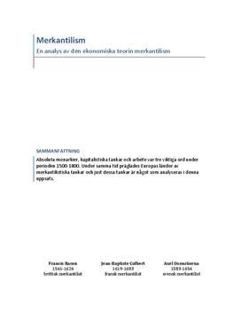 Ekonomisk terori: Merkantilism | Analys