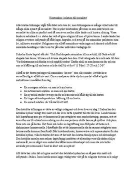 Sexualitet inom Kristendomen | Utredande text