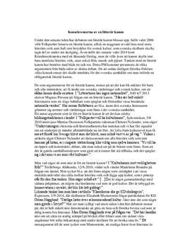 Införande av en litterär kanon | PM