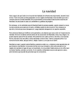 La navidad | Spanska | Inlämningsuppgift