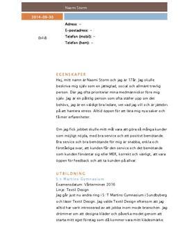 CV | Inlämningsuppgift