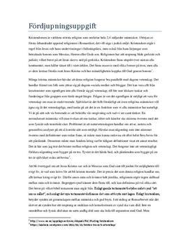 Kristendom och Islam: Likheter och skillnader | Fördjupningsuppgift