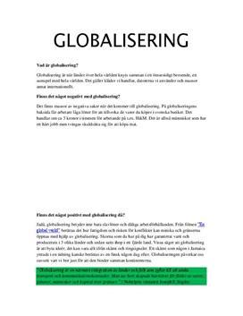 Globalisering | Frågor och svar