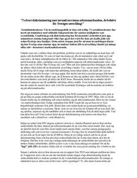 Invandring: Socialdemokraterna och Sverigedemokraterna | Debattartikel