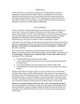 Första världskriget | Andra världskriget | Kalla kriget | Sammanfattning
