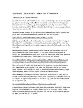 Master and Commander: Ledarskapsstil Aubrey & Maturin | Frågor och svar