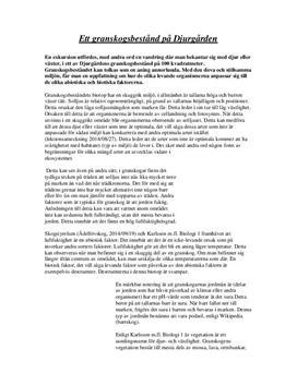 Exkursion av granskog: Abiotiska och biotiska faktorer  Inlämningsuppgift