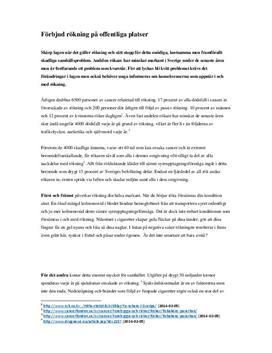 Förbjud rökning på offentliga platser | Debattartikel
