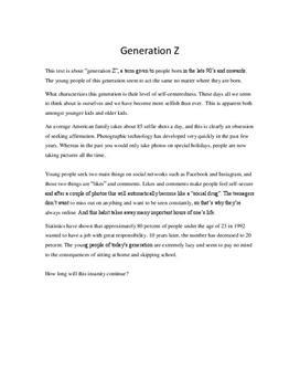 Generation Z   Krönika